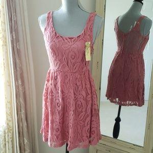 NWT Blush lace dress / dusty rose photoshoot dress